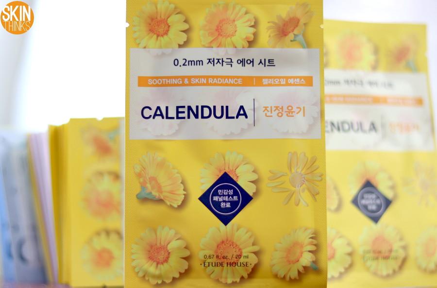 Etude House 0.2 Therapy Air Mask Calendula Mascarilla Calmante e Iluminadora