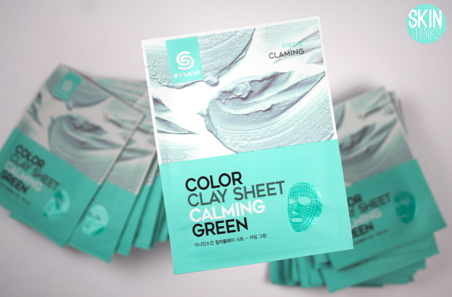G9SKIN Color Clay Sheet Calming Green Mascarilla Coreana Calmante de Arcilla