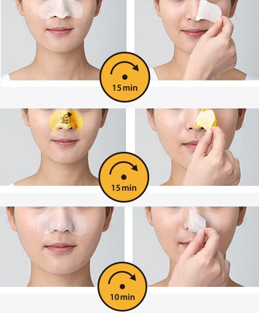 Holika Holika Gudetama Pig Nose Clear 3 Step Kit