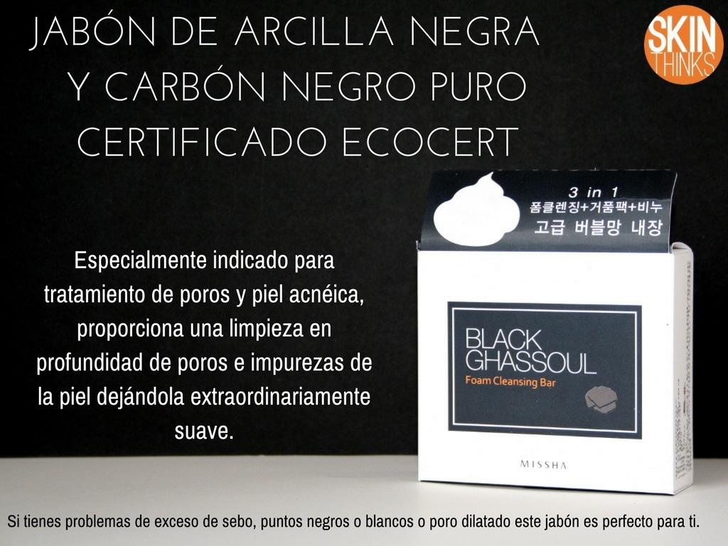 MISSHA Black Ghassoul Jabón para Tratamiento de Poros
