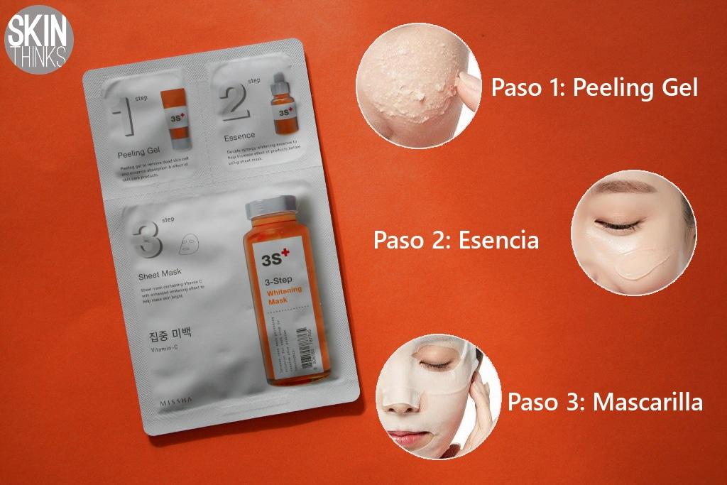 Mascarilla Facial Missha 3 Step Iluminadora y Anto Manchas