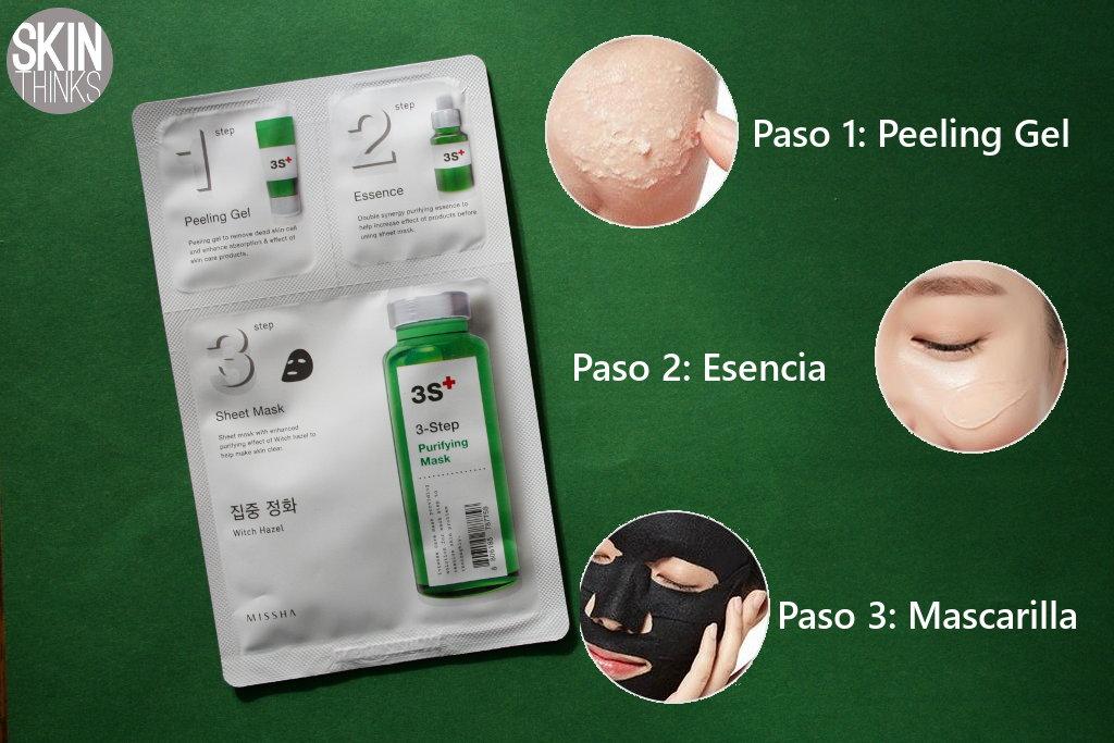 Missha Mascarilla facial purificanteen 3 pasos