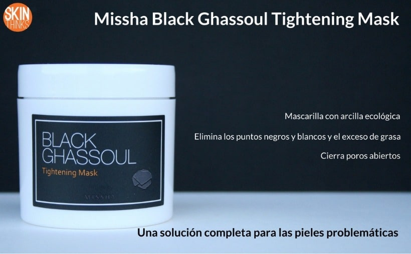 Missha Black Ghassoul Tightening Mask - Mascarilla Purificante