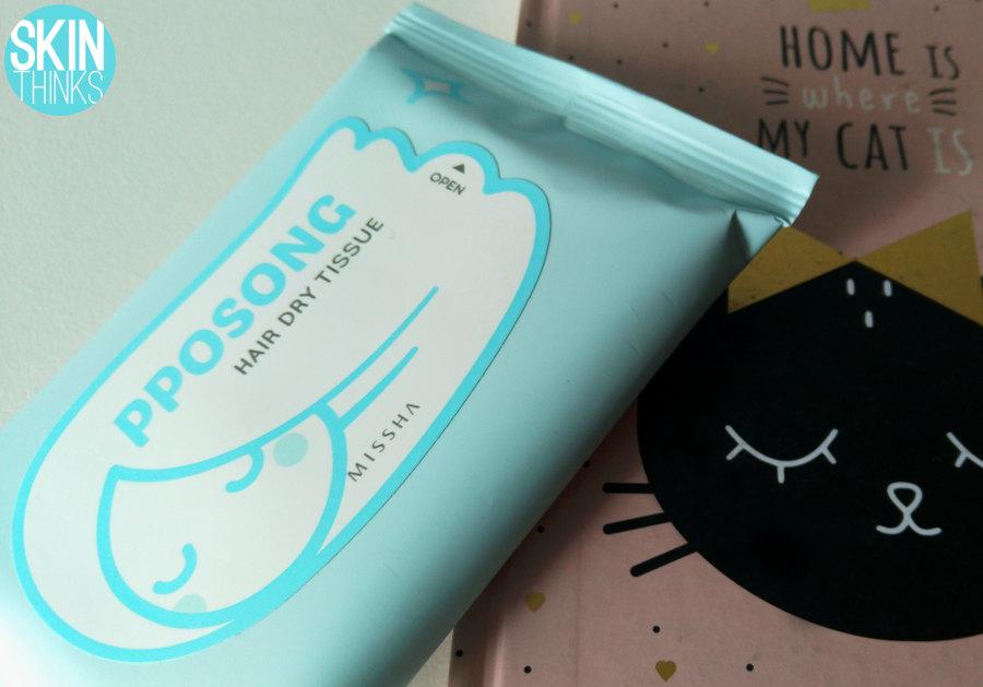 Missha PPOSONG Hair Dry Tissue