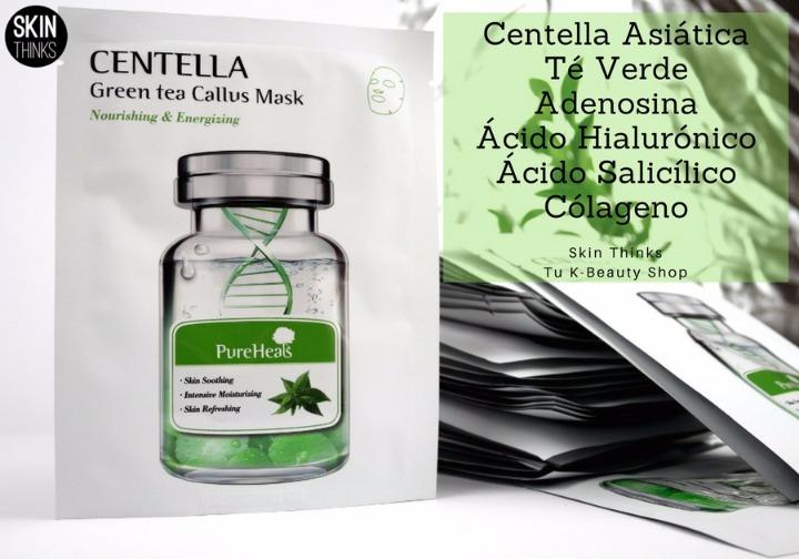 Mascarilla Coreana Pureheals Centella Green Tea Callus Mask