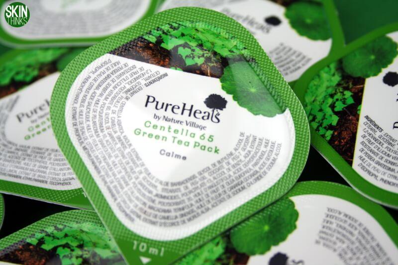 PureHeals Centella 65 Green Tea Pack Mascarilla Hidratante y Purificante