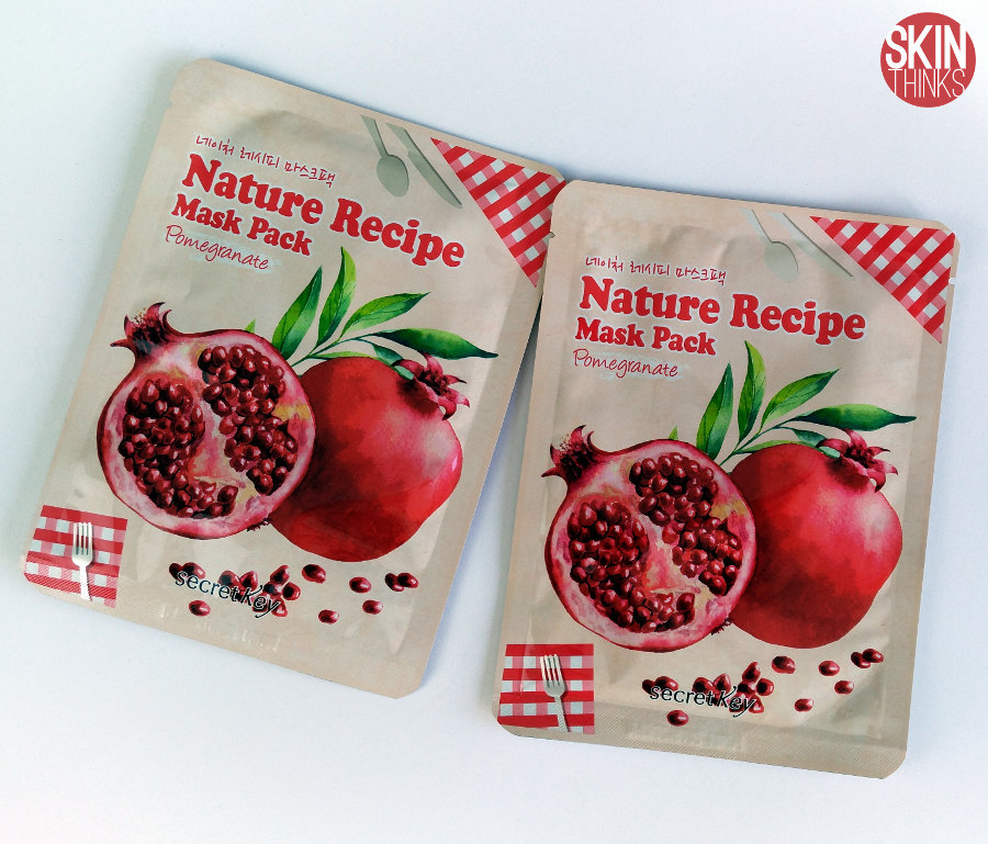 Secret Key Nature Recipe Mask Pomegranate Mascarilla Reafirmante y Revitalizante
