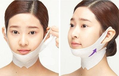 Parche Antiedad para reafirmar ovalo facial y cuello. Holika Holika V Zone Patch
