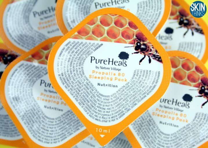 Pureheals Propolis 80 Sleeping Pack Mascarilla Antimanchas y Anti -Edad
